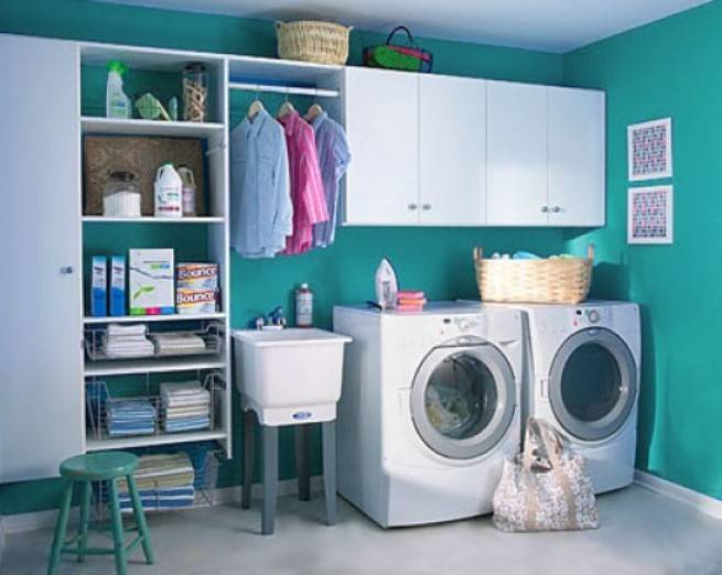 Green-Laundry-Room