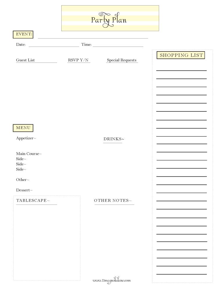 Party-Plan-Printable