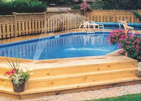 Backyard dreamin 39 the road to domestication for Above ground pool decks for small yards