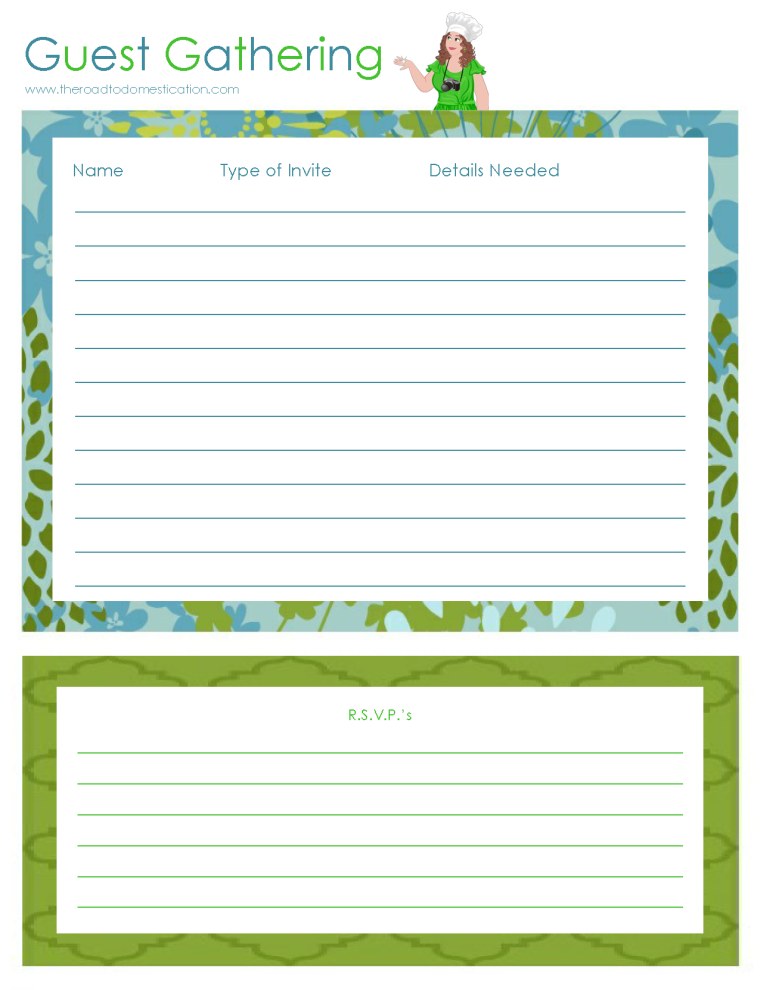 Guest Gathering Printable