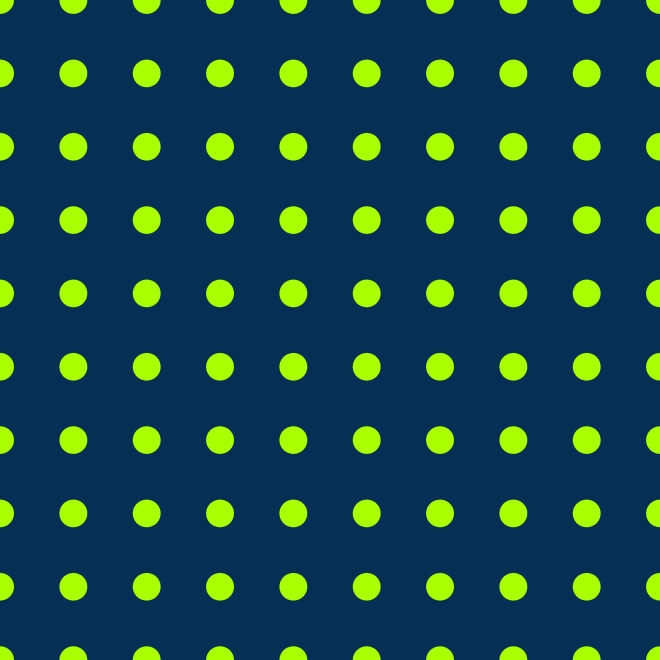 113 lg lime polka dots on navy